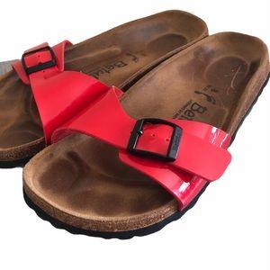 Birkenstock Betula Madrid Red Slides, size 8 or 38